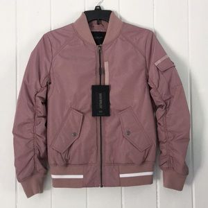 Marc NY Foster Nylon Bomber Jacket Insulated